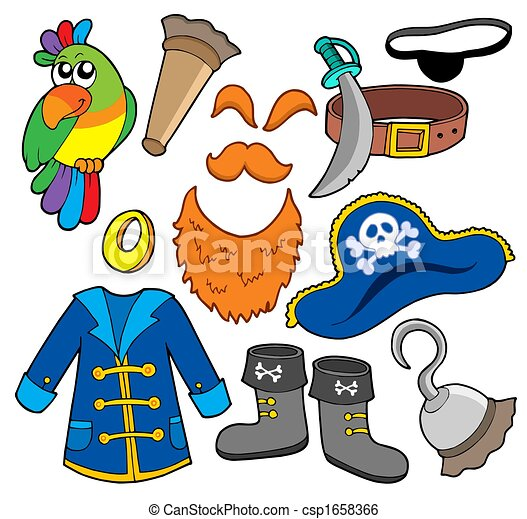 Pirate clothes collection - csp1658366