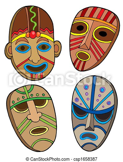 Tribal masks collection - csp1658387