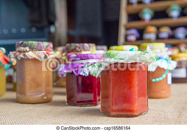 Different tastes home made jam - csp16586164