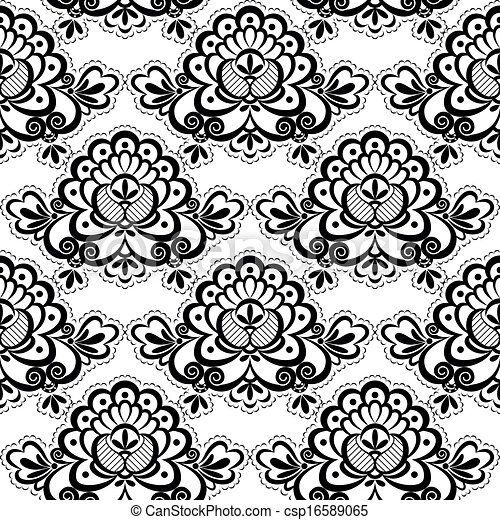 Simple lace patterns clipart - photo#20