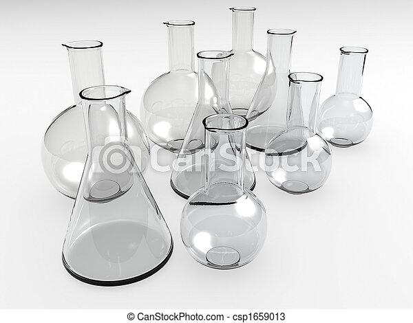 laboratorium, Flaskor - csp1659013