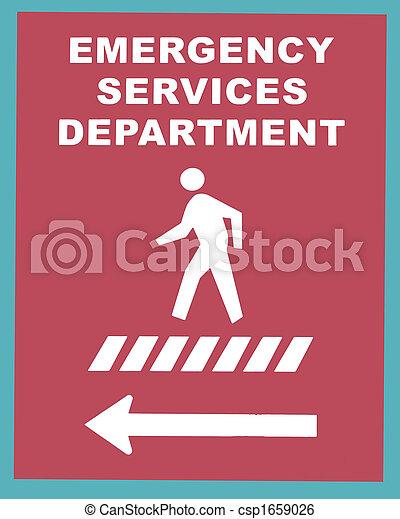 Emergency Services Crosswalk Sign - csp1659026