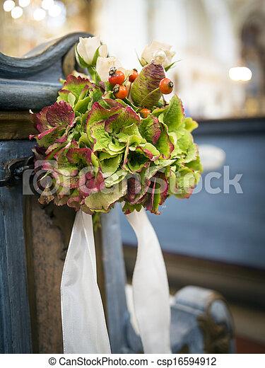 Church flower arrangement - csp16594912