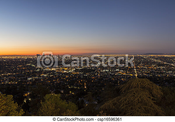 City of Los Angeles Night - csp16596361