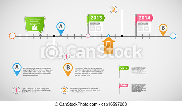 Infographic Templates free timeline infographic templates : Vector of Timeline infographic business template vector ...