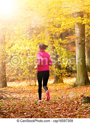 Young woman running - csp16597309