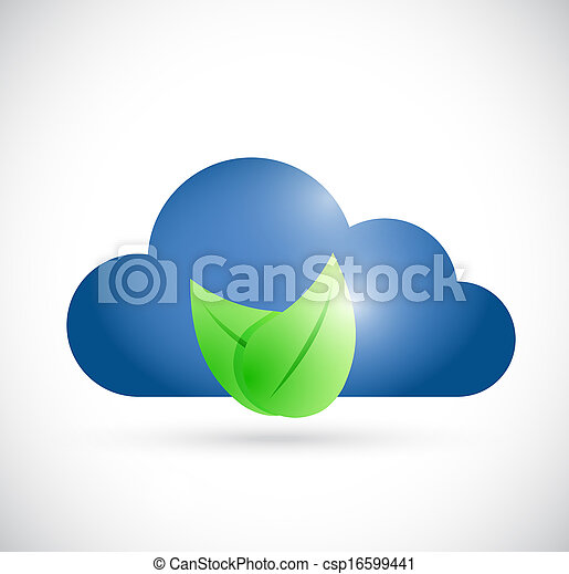 cloud environment concept illustration design - csp16599441