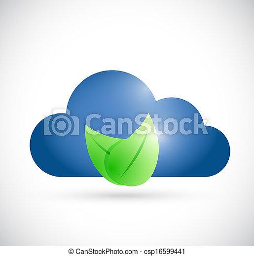cloud environment concept illustration design - csp16599441