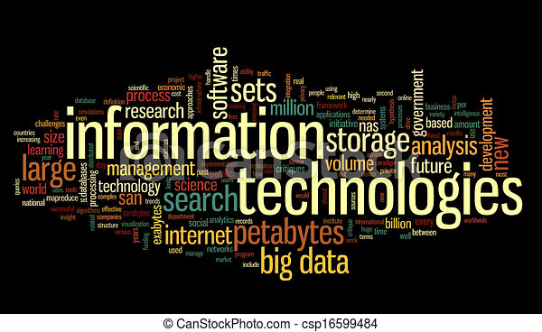 Information technology in tag cloud - csp16599484
