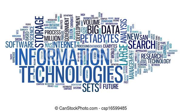 信息, 技术, 标记, 云 - csp16599485
