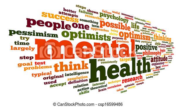Mental health in word tag cloud - csp16599486