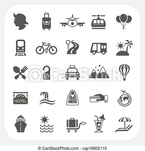 Travel and Transportation icon set - csp16602110