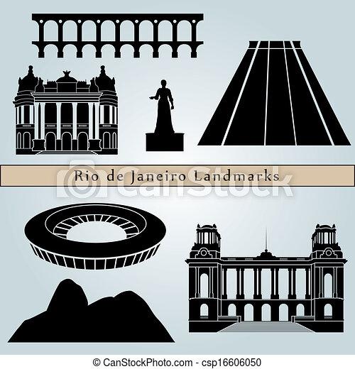 Rio de Janeiro landmarks and monuments - csp16606050