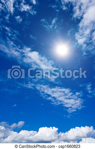 White clouds and sky in sky - csp1660823