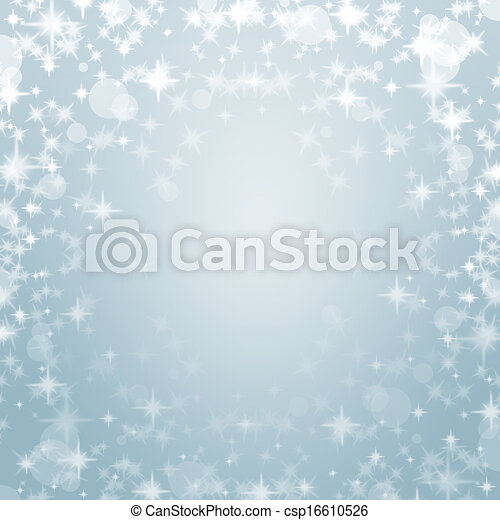 elegant sky blue christmas background with sparkles - csp16610526