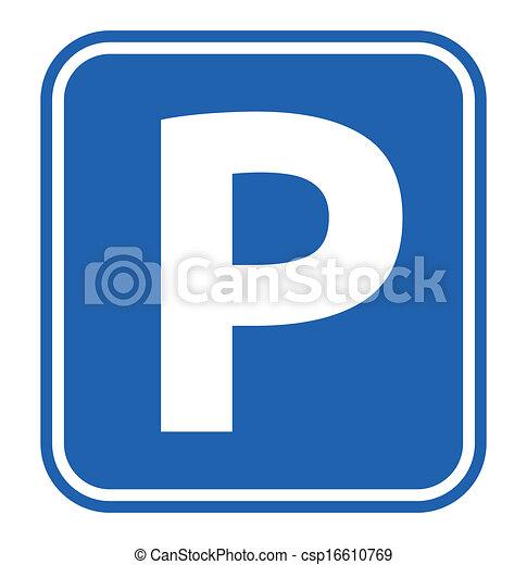 Parking Sign - csp16610769