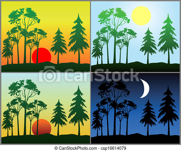 Vectors Illustration of Background in the form of a period ...