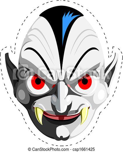 Dracula vampire mask - csp1661425