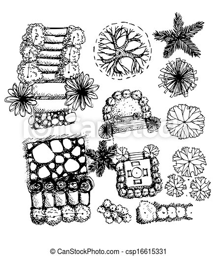 Landscape Architecture Drawing Symbols landscape architecture tree graphics