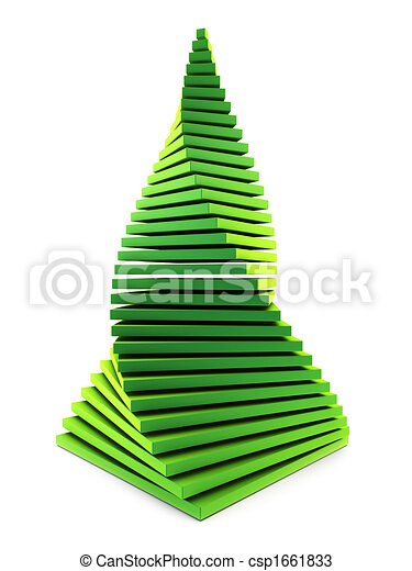 3d symbolic New Year\'s fir tree - csp1661833