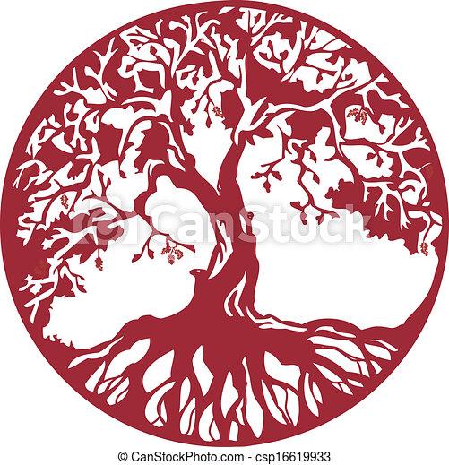 Acorn Tree Drawing Oak Tree Drawings