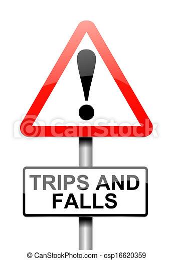 Trip and fall warning. - csp16620359