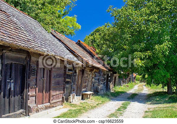 Historic cottages road in Croatia - csp16623559
