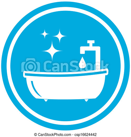 Stock Illustration   Symbol,  , Badezimmer, Hygiene, Ikone