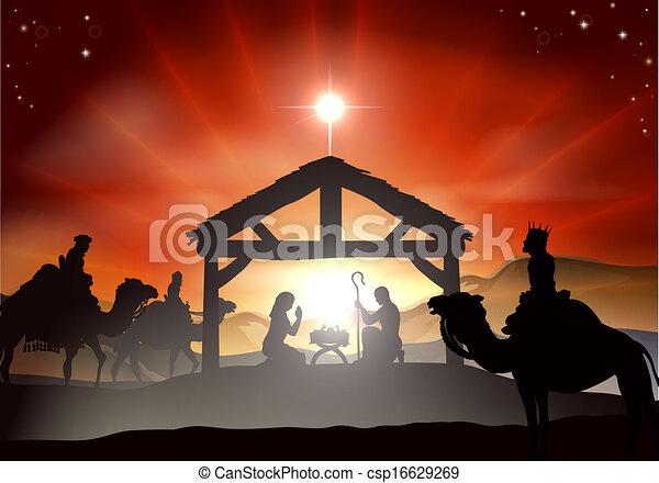 Christmas Nativity Scene - csp16629269
