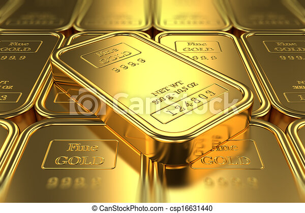 Gold bars. Banking - csp16631440