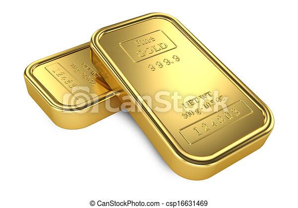 Gold bars. Banking - csp16631469
