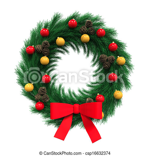 Christmas Wreath Decoration - csp16632374