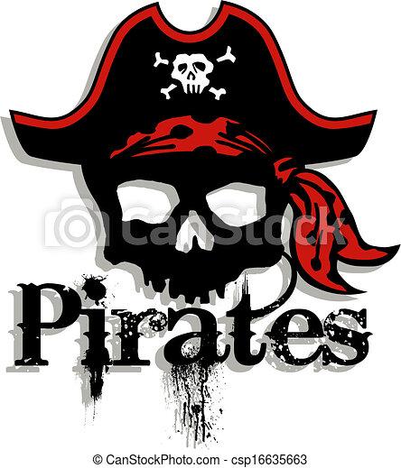 Pirates Logo Skull pirates skull logo