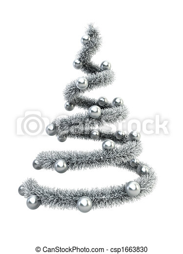 3d symbolic New Year's fir tree - csp1663830