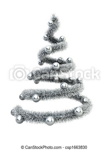 3d symbolic New Year\'s fir tree - csp1663830