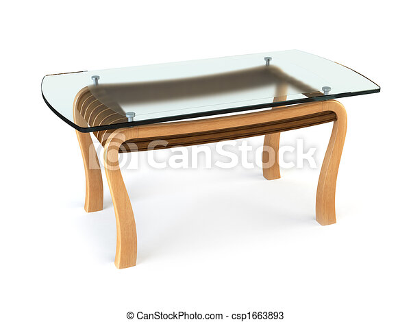 modern dining glass table - csp1663893