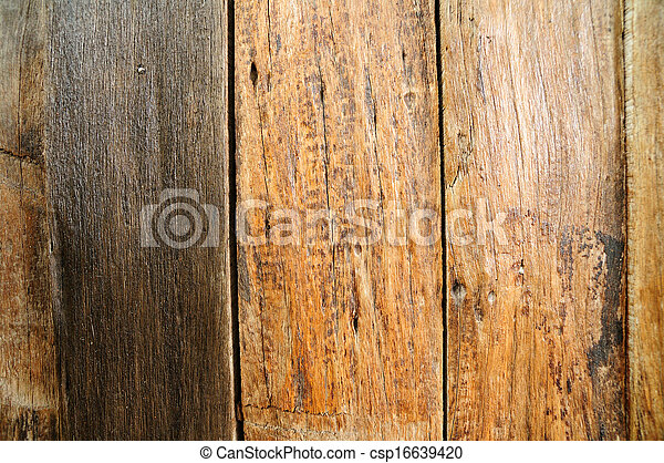 Close up brown wooden fence - csp16639420