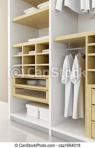 Stock illustration of inside the modern closet 3d for Garderobe 3d dwg