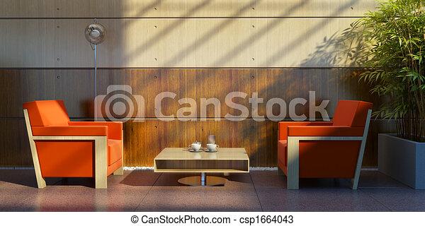 lounge room interior - csp1664043