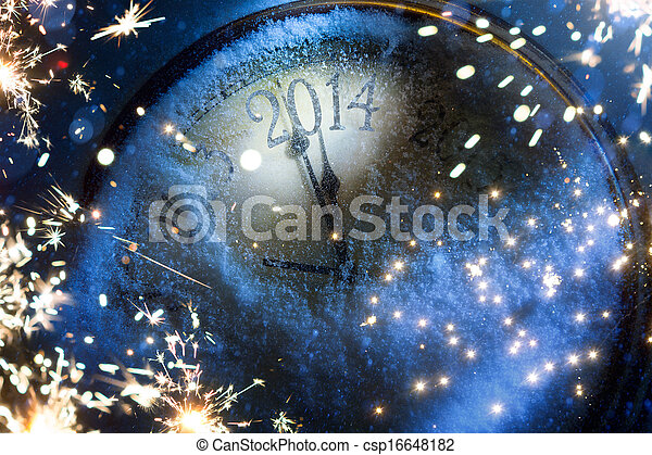 Art Christmas and New years eve 2014 - csp16648182