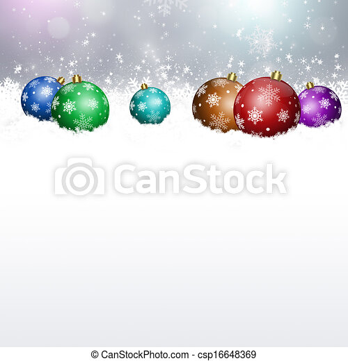 Holiday Balls on Snow - csp16648369