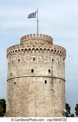 Thessaloniki famous landmark white tower - csp16649722