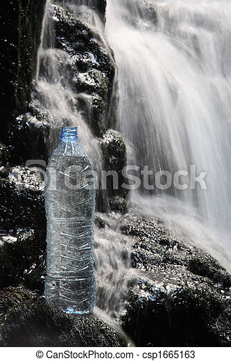 Mineral water in waterfalls - csp1665163