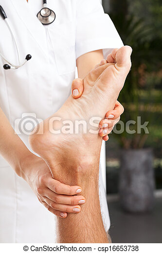 Rehabilitation of ankle - csp16653738