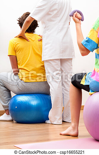 Exercises with patients - csp16655221