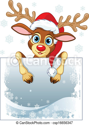 Reindeer Sign  - csp16656347