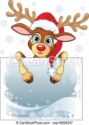 Reindeer Sign  - csp16656347