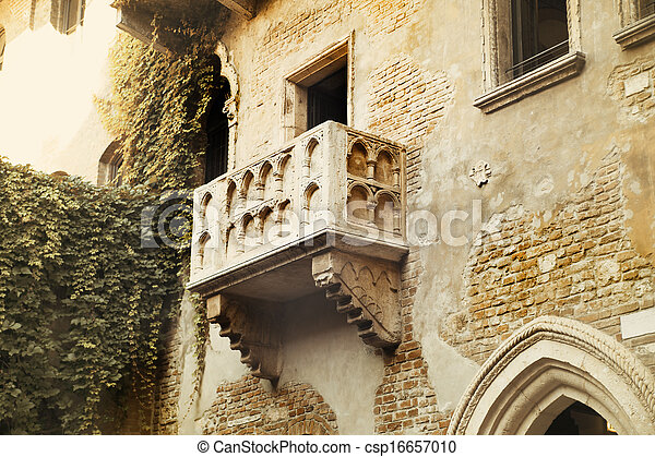 Stock photography of famous balcony of romeo and juliet in for Famous balcony