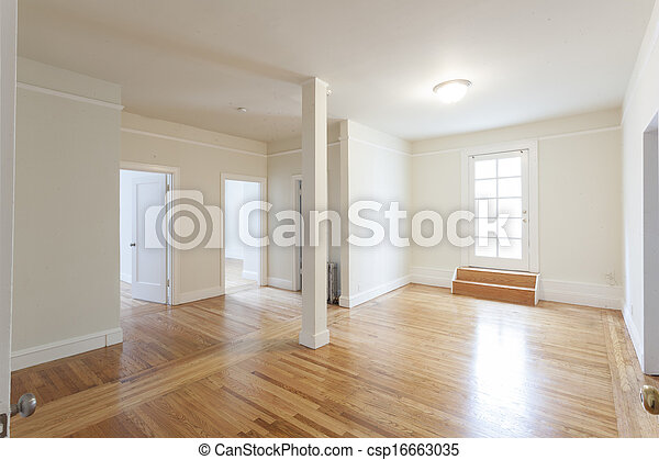 stock photos of clean empty studio apartment room csp16663035 search stock images photographs. Black Bedroom Furniture Sets. Home Design Ideas
