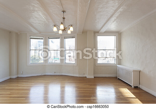 stock images of clean empty studio apartment room csp16663050 search stock photos pictures. Black Bedroom Furniture Sets. Home Design Ideas